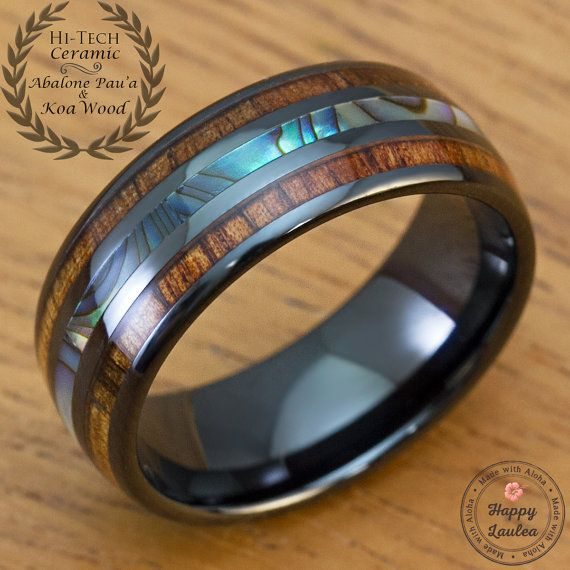 Hey, I found this really awesome Etsy listing at https://www.etsy.com/listing/251043317/black-hi-tech-ceramic-ring-with-abalone
