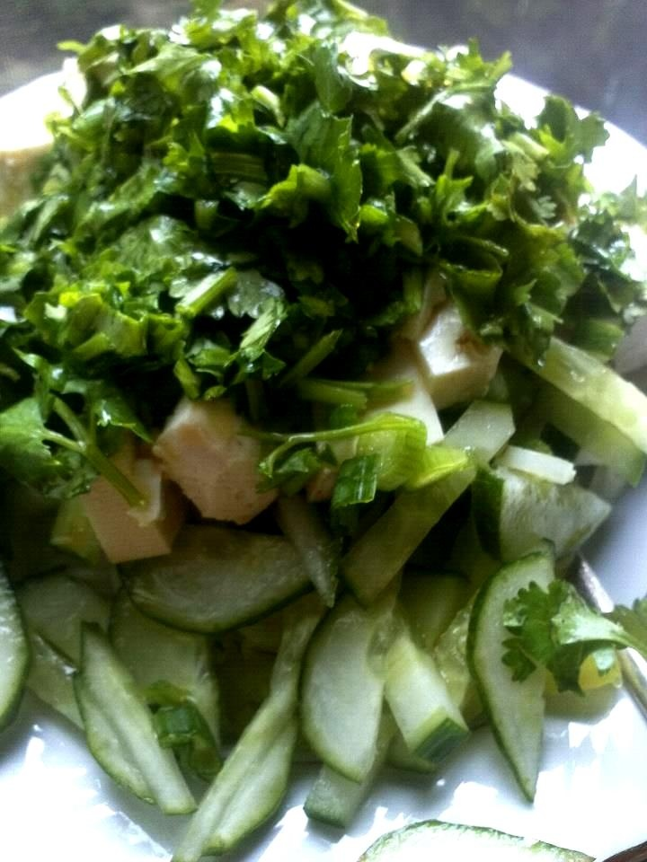 COLD VERMICELLI SALAD: Cook rice vermicelli and rinse under cold water ...