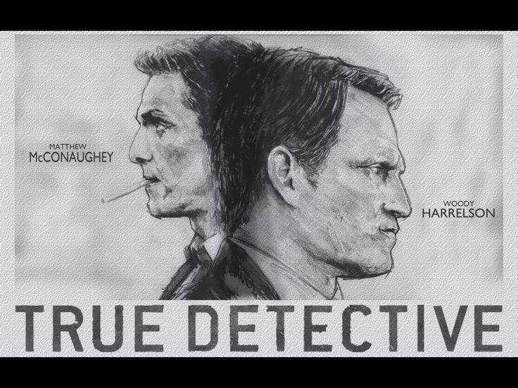 Got around to scanning this rough properly, rather than iPhone photo it from a funny angle.  True Detective by Ross Trower of Mcconaughey's and Harrelson's latest vehicle.
