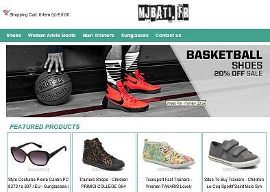 """""""www.mjbati .fr"""" - Fraudulent Shoe Selling Website: The website: """"www.mjbati .fr,"""" is a fake shoe selling website. The fake and fraudulent website, disguised as an e-commerce website selling shoes for men, women and children, was created by cyber-criminals to steal their victims' credit card and personal information, which they (cyber-criminals) will use fraudulently. Please do not be fooled by the fake """"Hacker Safe"""" or """"VeriSign Secured"""" logos on the websit..."""