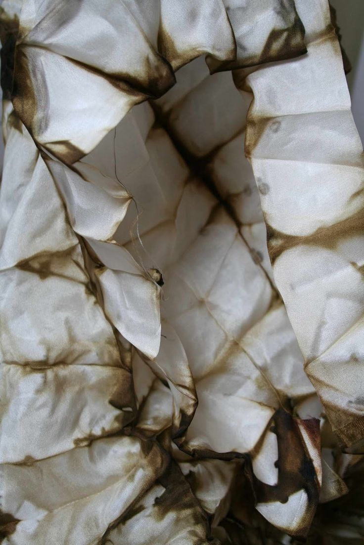 Alice Fox | Silk dyed with onion skins and iron | 2011
