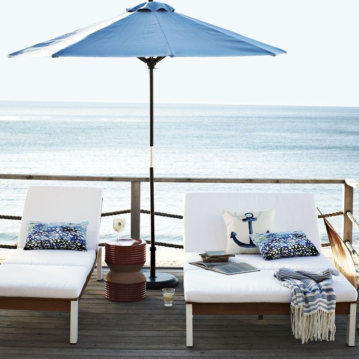 wishing this was my deck: Anchors Pillows, Outdoor Living, Decks, Dreams, Bedrooms Design, Lounges, Coastal Living, Beaches Houses, Outdoor Spaces