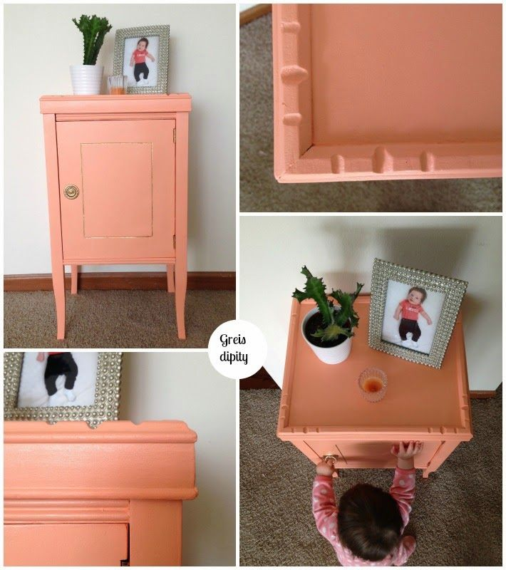 DIY: rinnovare. | GREISdipity before after nightstand in wood / Prima e dopo comodino in legno. Nuovo stile new style before/after