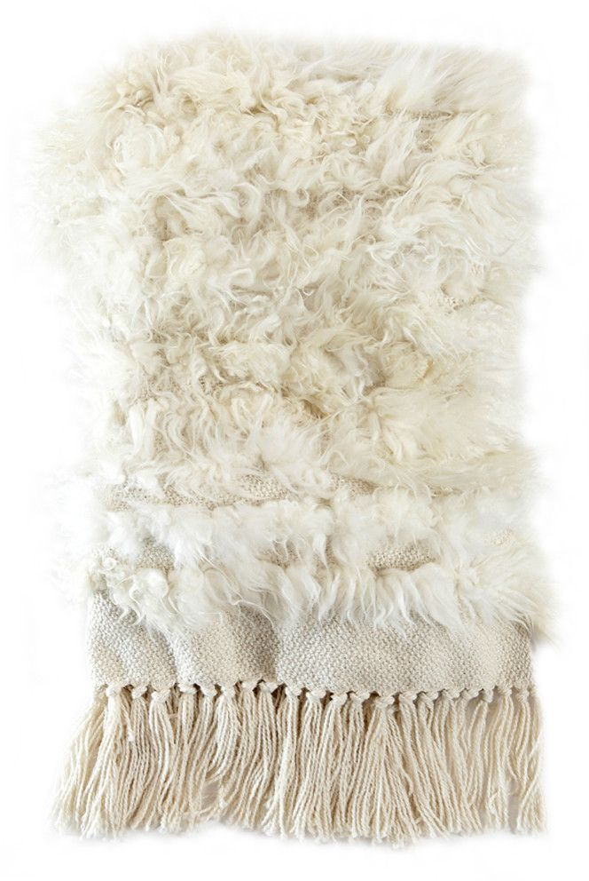 Sheepskin Throw Full Striped Lambskin Throw Sheepskin