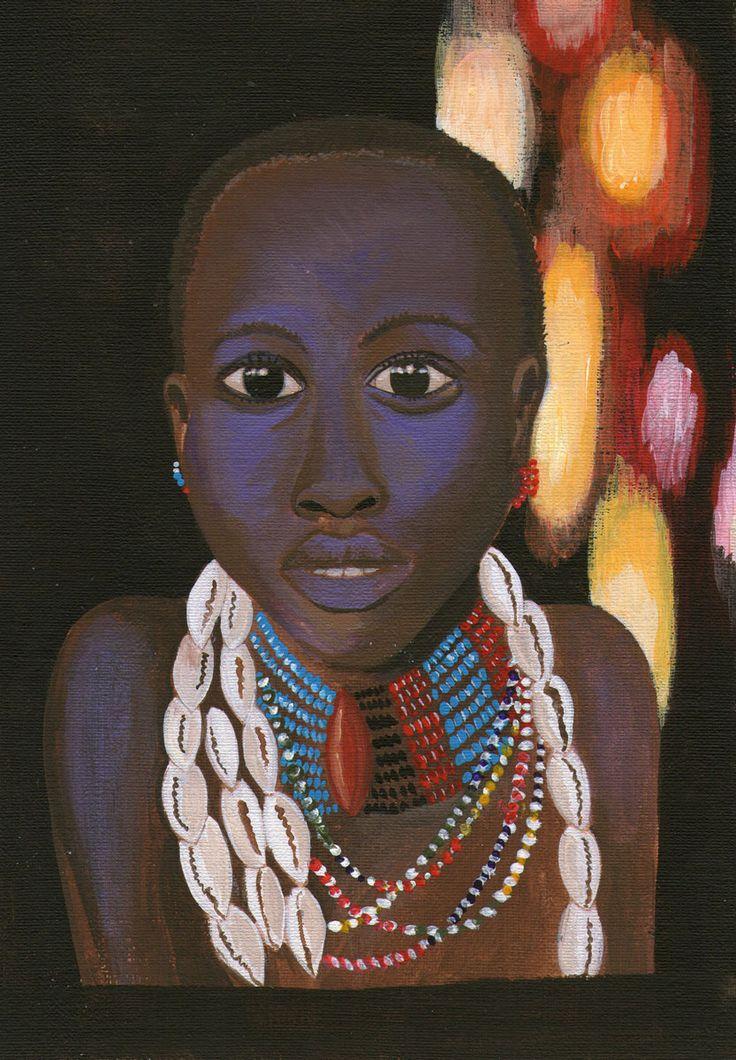 """Ilustración en acrílico """"Africa"""""""