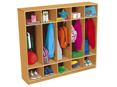 Classic Birch Coat Lockers For 10 Daycare In Home
