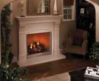 "DRT4036TEN Superior 36"" Clean Face Direct Vent Fireplace, White Stacked Brick Interior, Electronic Ignition - 33,500 Btu's - Natural Gas"