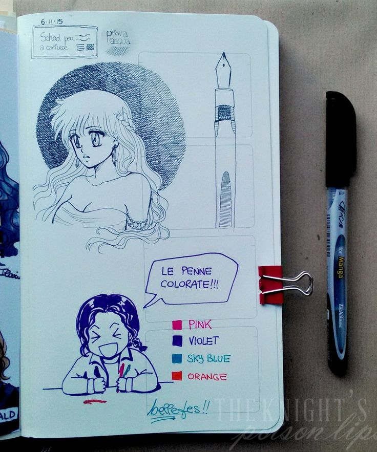 Ilaria Guinness ART - (Moleskine Sketchbook) manga sketchbook school pen