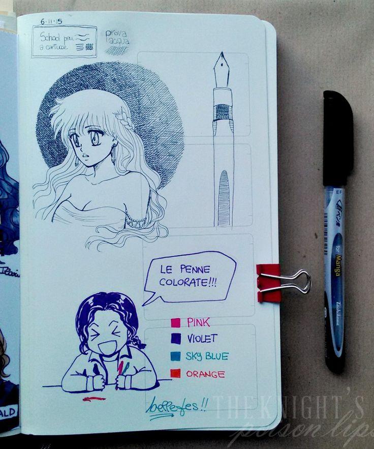 Ilaria Guinness ART - (Moleskine Sketchbook) manga sketchbook school pen