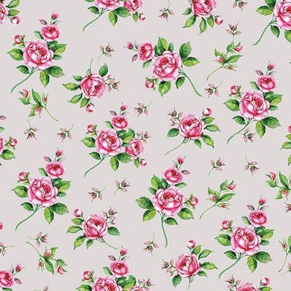 4 x Single Paper Napkins//3 Ply//Decoupage//Craft//Flower Wallpaper Pattern