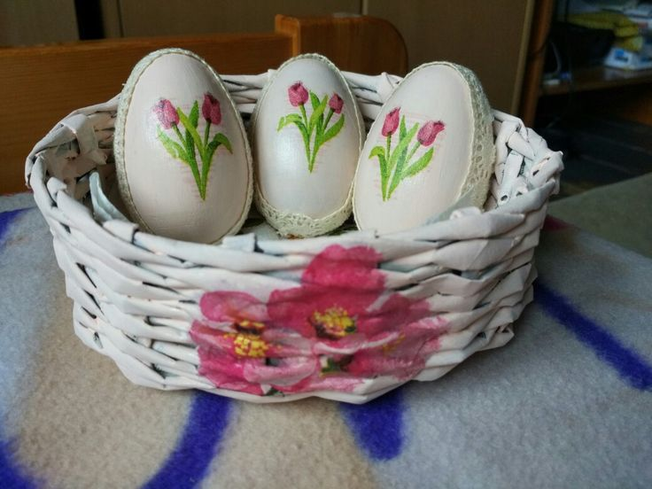 eggs basket decoupage