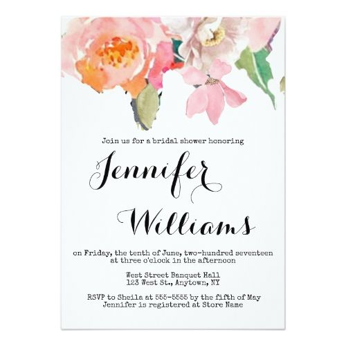 Cute pink floral bridal shower invitations cute wedding ideas cute pink floral bridal shower invitations filmwisefo