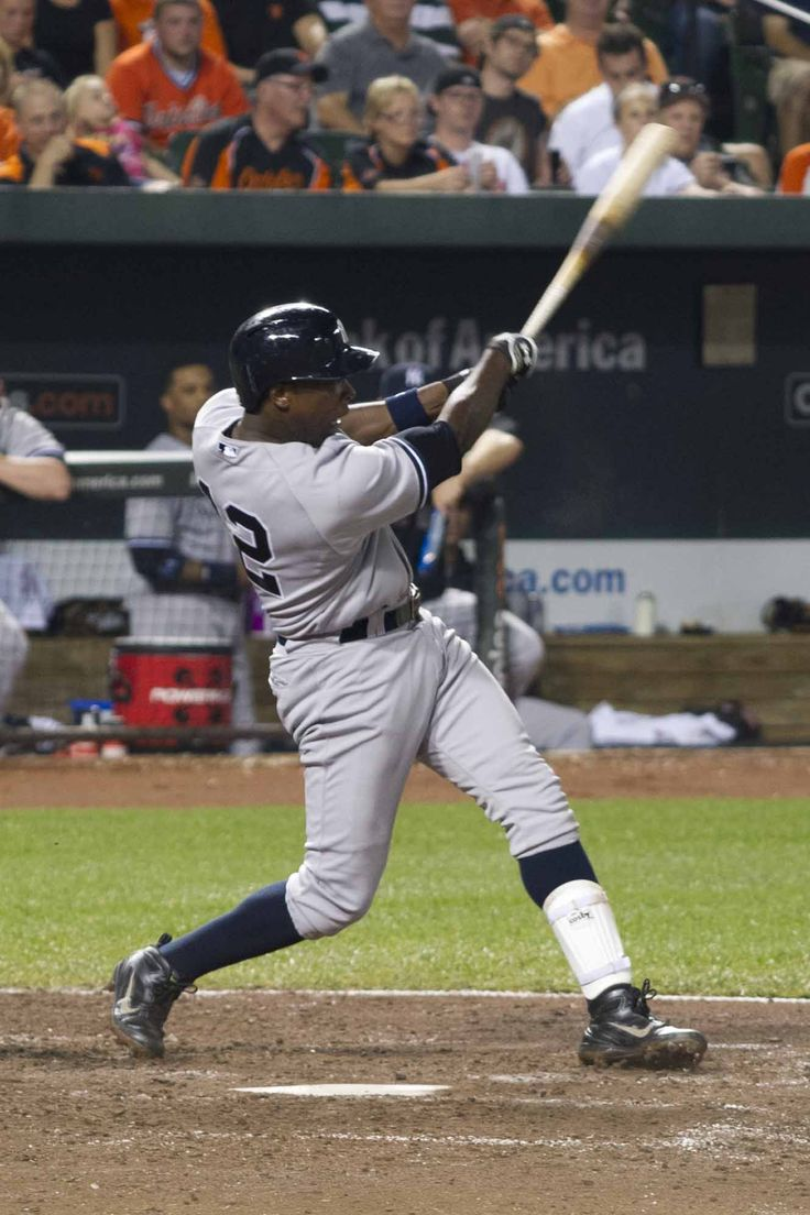 Soriano hitting 1 of 2 HR's during this game.  Yankees vs Orioles, September 10, 2013