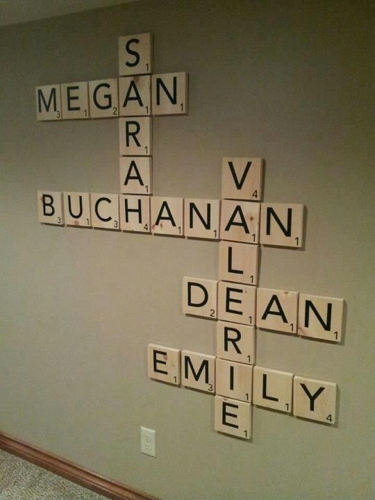 Scrabble Pieces Wall Decor : Make your own quot scrabble tile inspired decor with