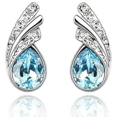 Fashion Austria Crystal Stud Earrings Clear Full Rhinestone Cheap Earrings For Woman brincos Wholesale&Retail