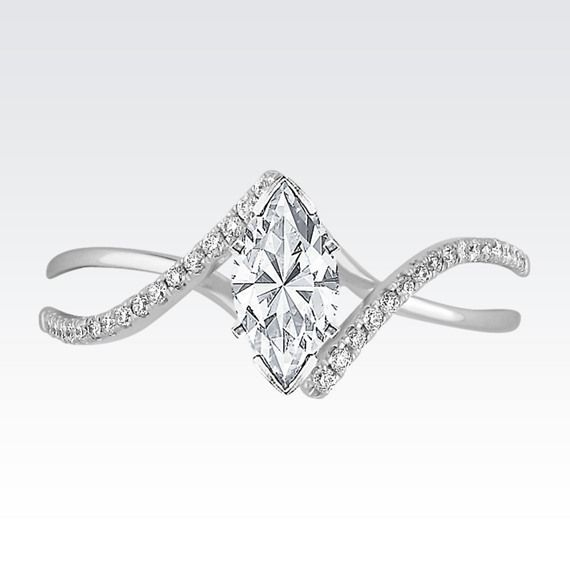 Swirl Diamond Engagement Ring At Shane Co Diamond Engagement Rings Engagement Rings Buy Wedding Rings