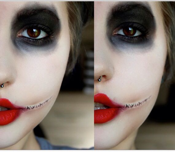 Awesome Harley quinn makeup