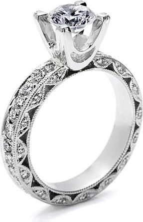 Camo Diamond Engagement Rings | Tacori Engagment Rings | Weddings Rings Store