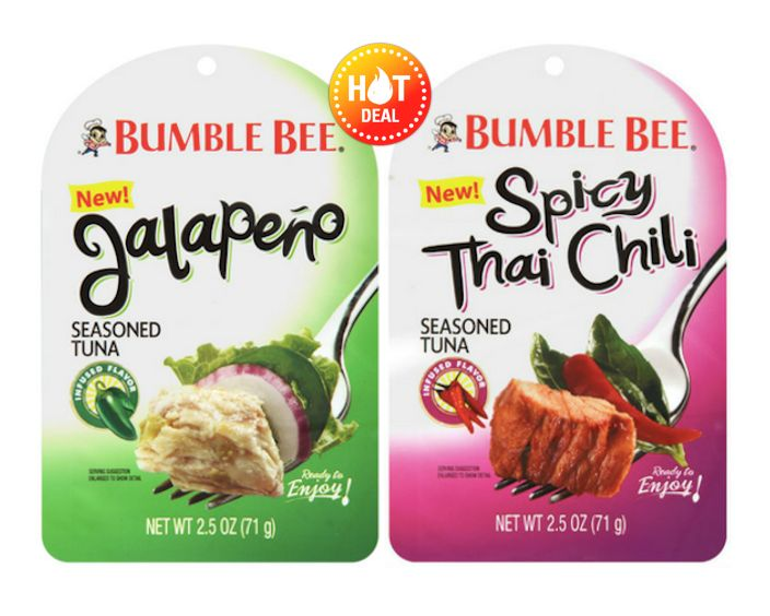 Publix Deal Alert - Bumble Bee Seasoned Tuna Pouches just $0.63 each, when you buy two, after sale & coupon. Valid now through 9/12 or 9/13! #coupon #deals #grocery #stores