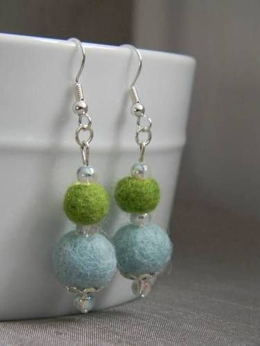 Felted Bead Earrings