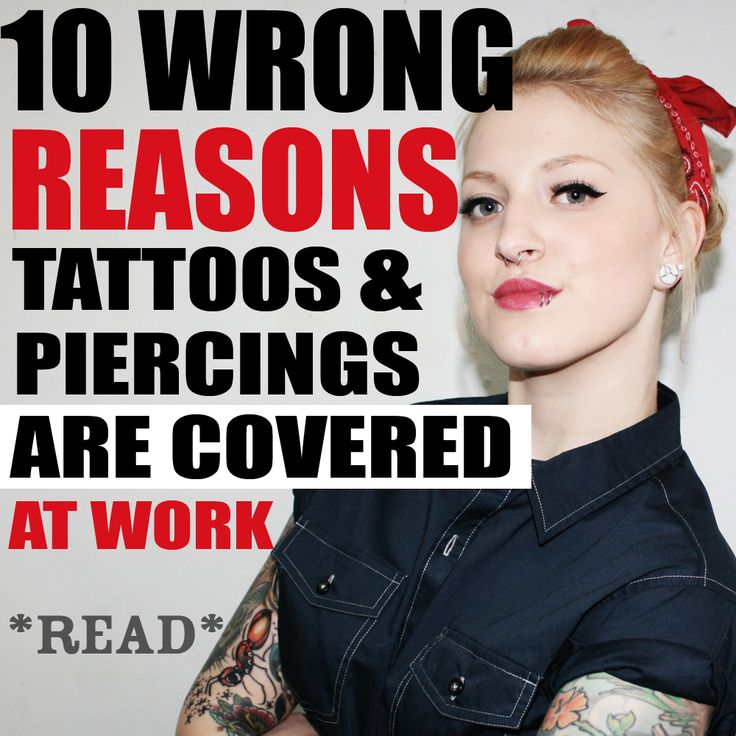 We wrote responses to the top 10 reasons people think ink/piercings shouldn't be allowed at work. Read it here: http://www.stapaw.com/#!tattoos-and-piercings-in-the-workplace/c1ti4