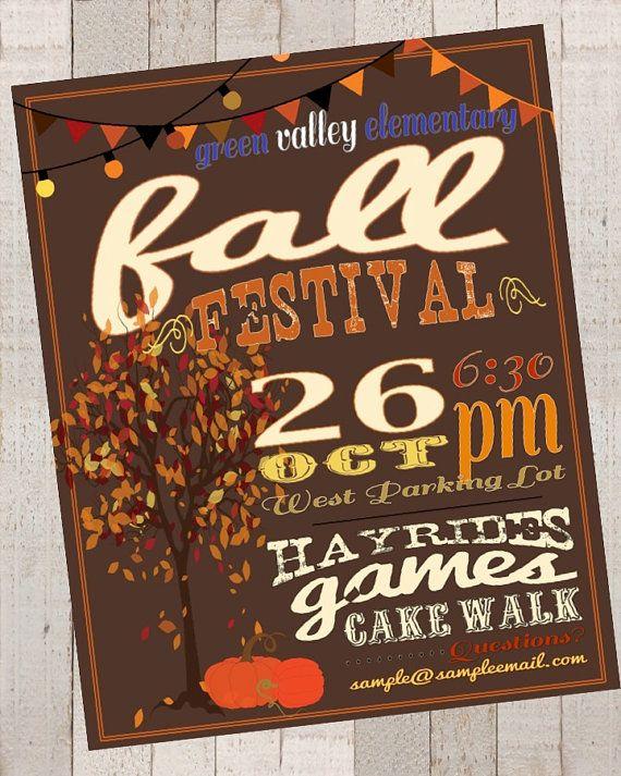Fall Festival Poster / Advertisement Digital CUSTOM by Jalipeno, $14.90