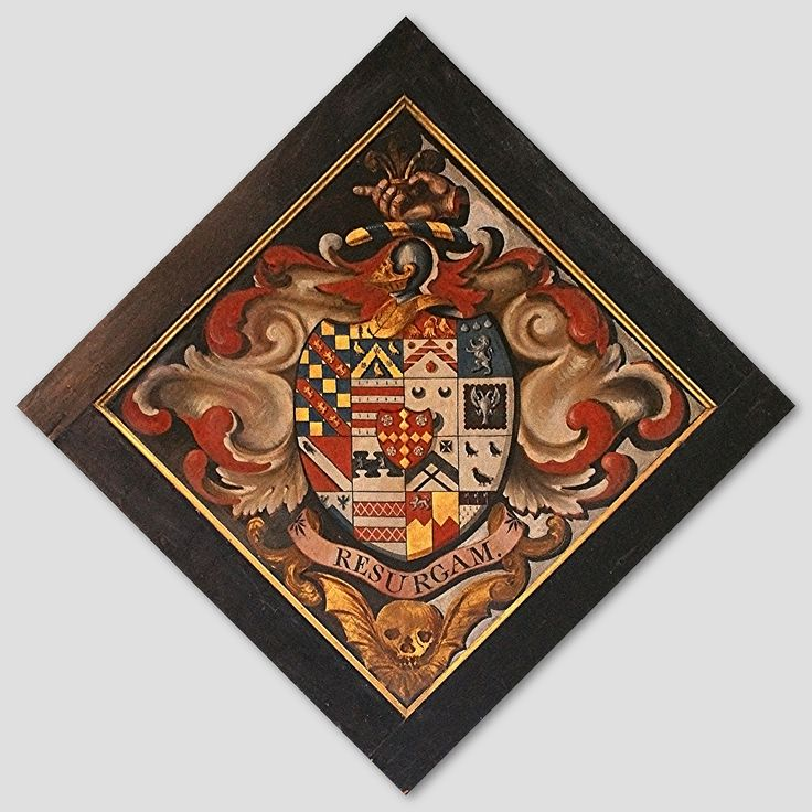 Hatchment in the Church of St. Mary the Virgin, at Frampton-on-Severn, Glos., England