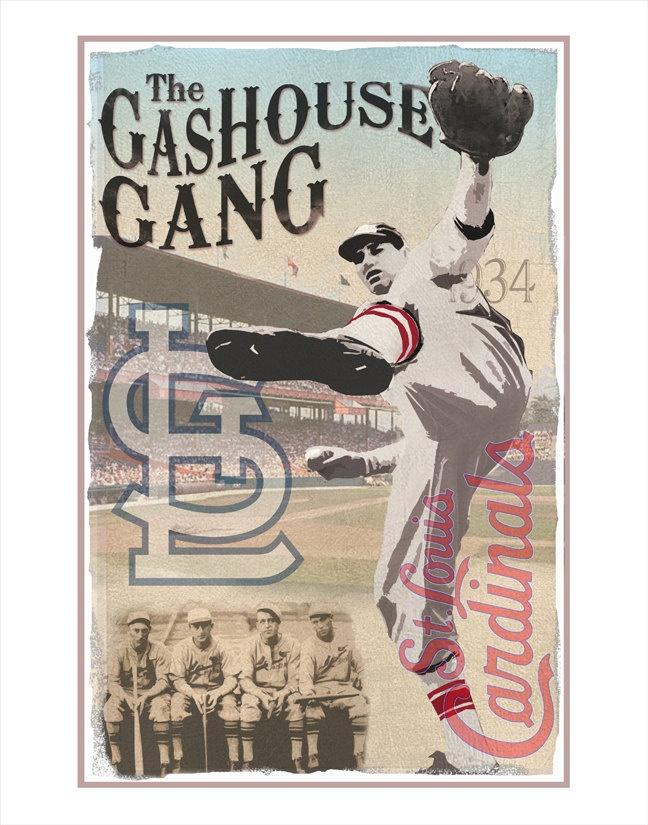 St. Louis Cardinals Gashouse Gang Print - 11x14 print - Baseball poster Boys room Man cave decor. $17.50, via Etsy.