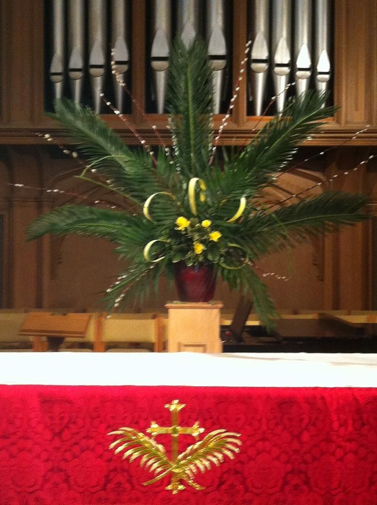 54 best church palm sunday images on pinterest palm for Altar decoration