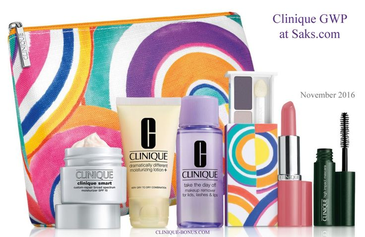 Make $50 Clinique purchase on Saks.com and enter promo code CLINIQ84 to receive this GWP. http://clinique-bonus.com/other-us-stores/