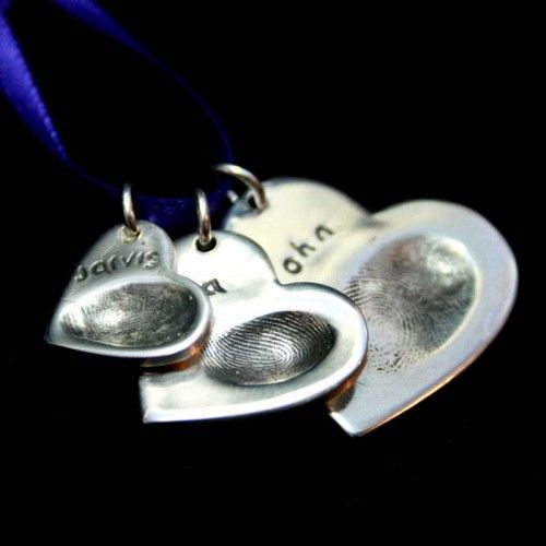 Triple Descending Fingerprint Pendants
