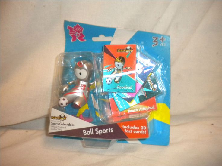 Olympic COLLECTABLE London 2012 Mascot WENLOCK - Ball Sports with 3D Cards  | eBay