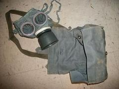 German gas mask, Gummimaske, Bag and Strap, Schipperfabrik