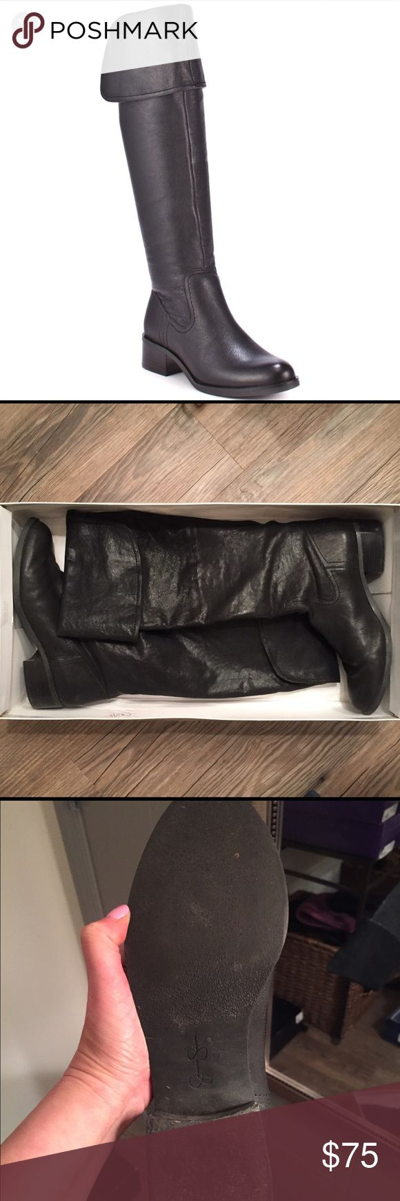 Jessica Simpson New Bomber Boot These boots can be worn folded down or worn up over the knee. They are very versatile. I only wore them about five times. Make me an offer!! 💖 Jessica Simpson Shoes Heeled Boots