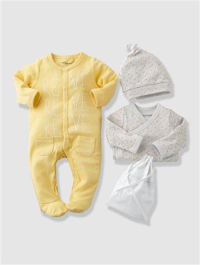 Kit naissance 3M  3 pièces et sac bébé nouveau né