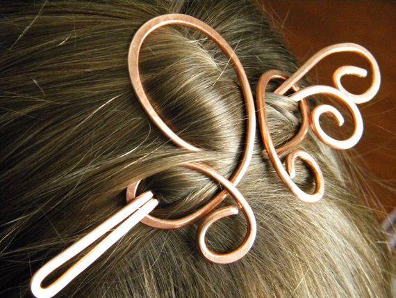 Hair Slide Hair Pin Hair Accessories Hair Clip by ElizabellaDesign, $18.50