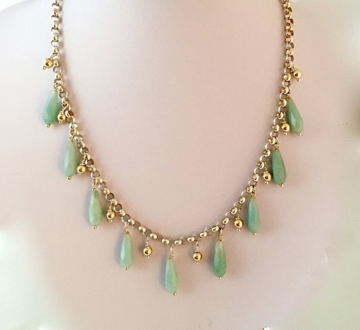 Amazonite, sterling silver and 9ct gold filled beads necklace by NuitNuitDesigns on Etsy https://www.etsy.com/uk/listing/504330016/amazonite-sterling-silver-and-9ct-gold