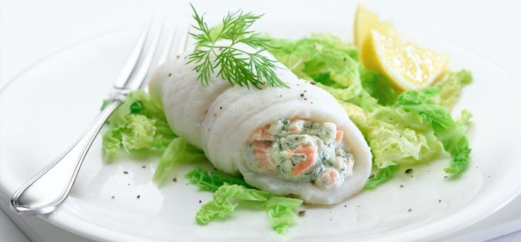 Plaice with Smoked Salmon and Dill - 200 calories per serving