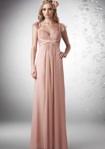 Flutter Sleeve And Empire Waist Wedding Dress Stylish