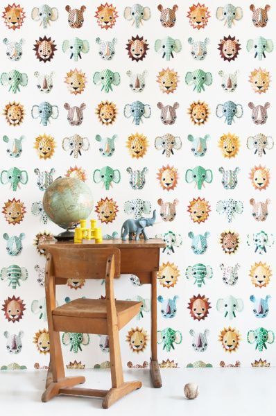 Wild animals wallpaper boys | Products | Studio ditte