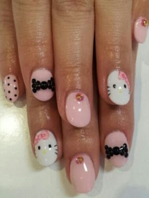 Style Me Pretty: Whimsical And Cartoon Nail Art Designs.