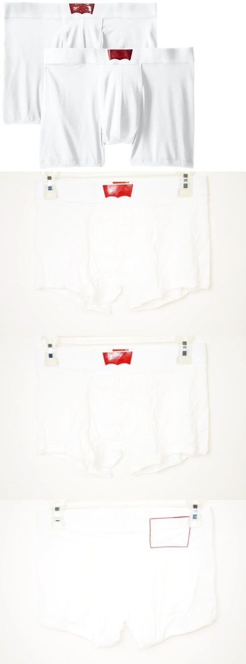 Man Boxers: Levi S Mens 200 Series Cotton Stretch 2 Pack Boxer Trunks Underwear White Size M -> BUY IT NOW ONLY: $9.1 on eBay!