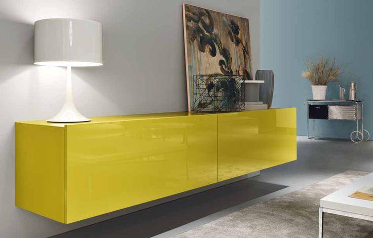 MisuraEmme - Madia Square | Design: C. R. S. MisuraEmme | Materiali: Laccato lucido | #design #yellow @MisuraEmme | http://www.muebleriadeangel.es