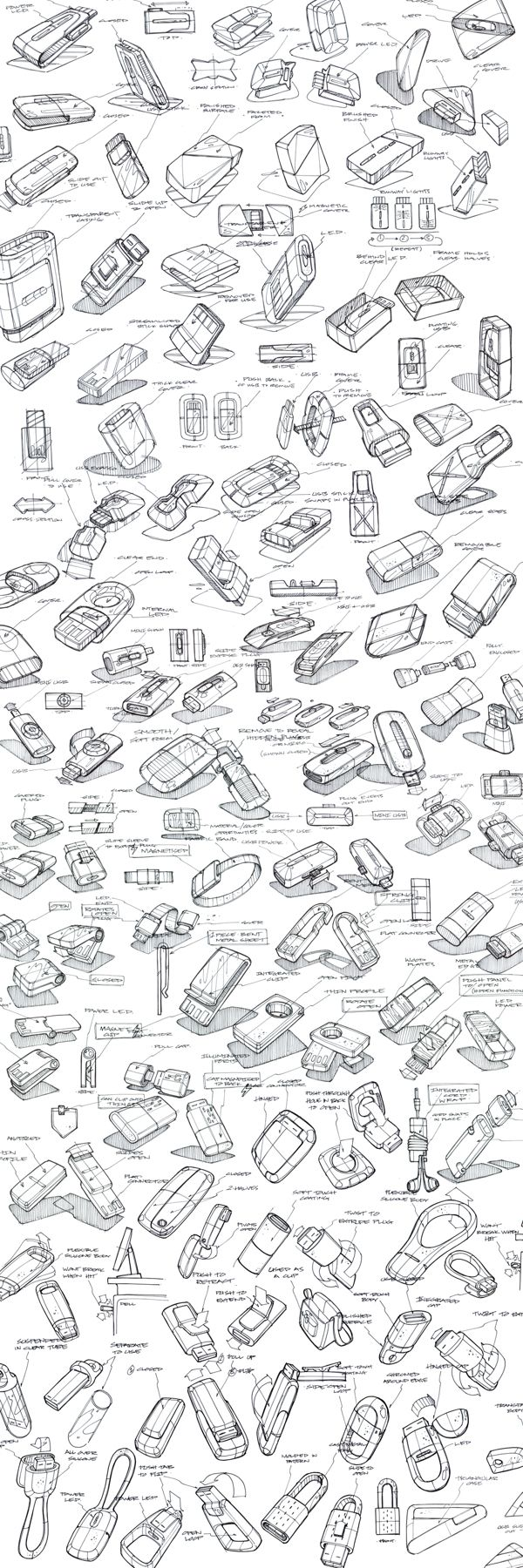 Product Sketching & Ideation by Mason Umholtz, via Behance 充满回忆