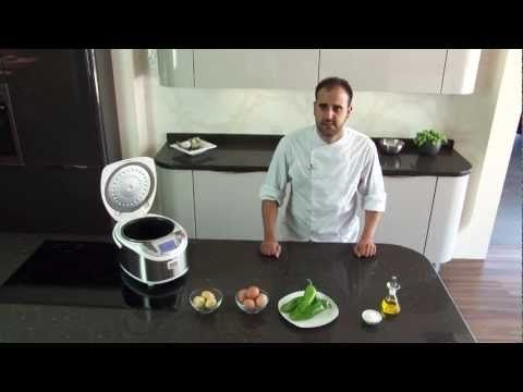 NEWCOOK PLUS: tortilla de patatas y pimientos · Receta robot de cocina