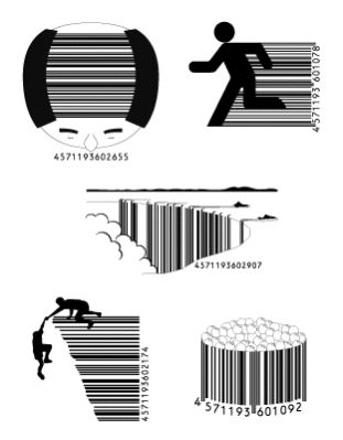Artistic UCC Barcode Designs from Japan