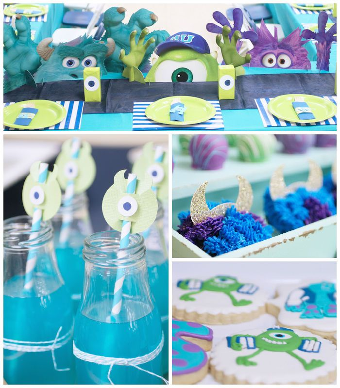 This darling MONSTERS UNIVERSITY BIRTHDAY BASH + PARTY was submitted by Melissa Matthew of...