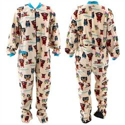Lazy One I'm Owl Yours Footed Pajamas for Adults