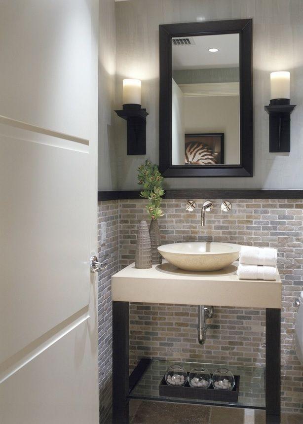 Un baño pequeño también puede ser elegante