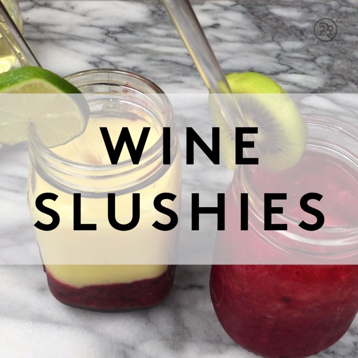 How to make wine slushies
